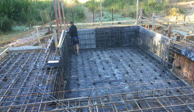 Poolform & steelfixing